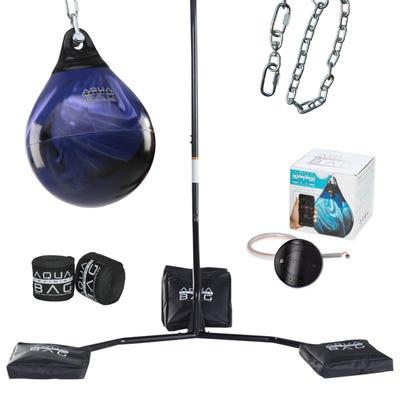 """Paquete de inicio en casa - Bolsa de boxeo de 15"""" y75 lb y accesorios"""